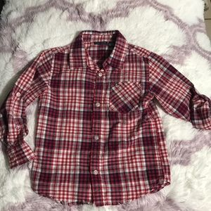 Tommy Hilfiger plaid long sleeve button down, s.5